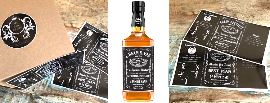 Ontwerp jou eie persoonlike Jack Daniel Plakkers!