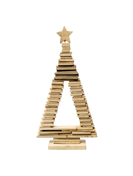 Wooden Window Christmas Tree 60 cm