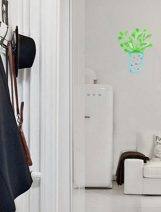 wall art vinyl decals succulent range 4. Black Bedroom Furniture Sets. Home Design Ideas