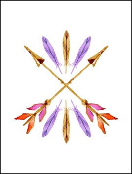 boho-watercolour-arrow-single