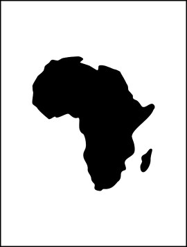 world-map-africa-continent-single
